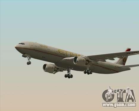 Airbus A330-300 Etihad Airways for GTA San Andreas inner view