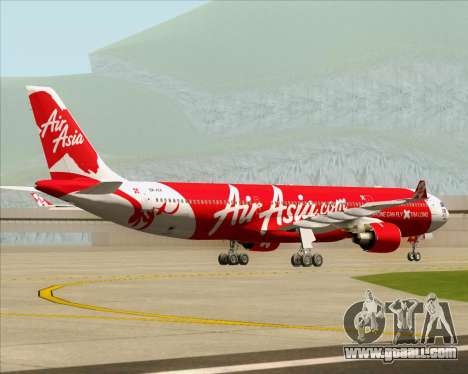 Airbus A330-300 Air Asia X for GTA San Andreas back view