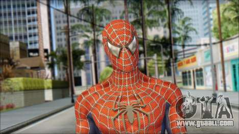 Red Trilogy Spider Man for GTA San Andreas third screenshot