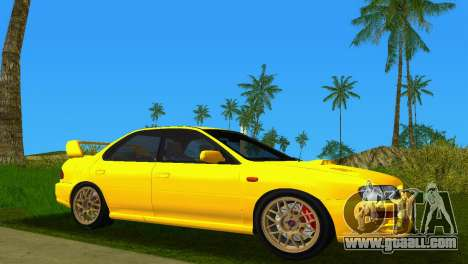 Subaru Impreza WRX STI GC8 Sedan Type 1 for GTA Vice City back left view