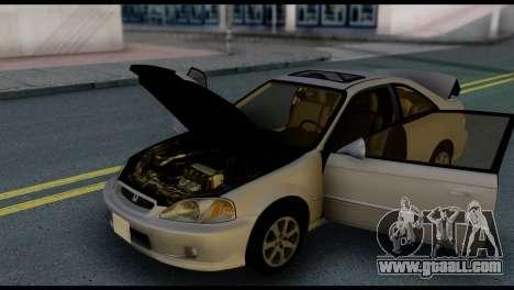 Honda Civic Si 1999 for GTA San Andreas bottom view