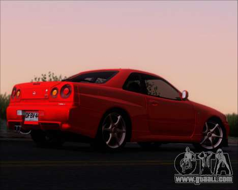 Nissan Skyline GT-R R34 V-Spec II for GTA San Andreas right view