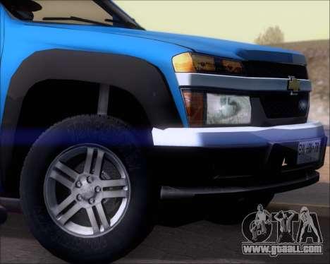 Chevrolet Colorado for GTA San Andreas engine