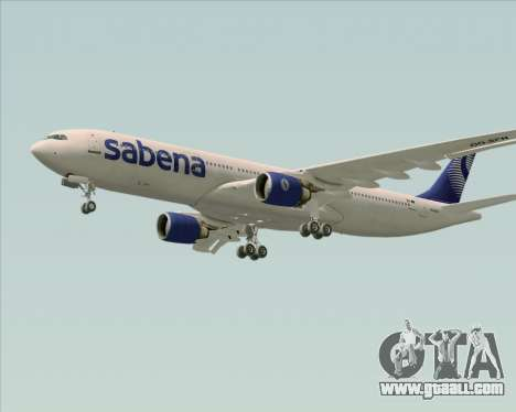Airbus A330-300 Sabena for GTA San Andreas inner view