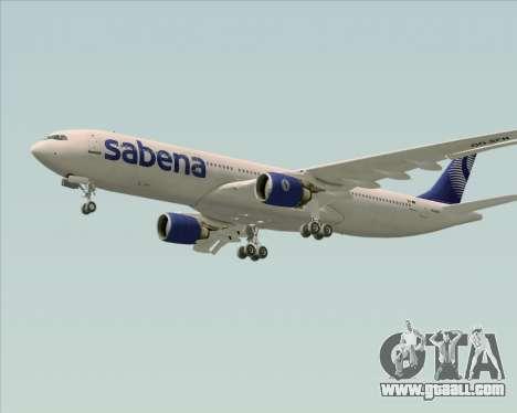 Airbus A330-300 Sabena for GTA San Andreas inner view