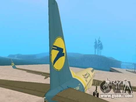 Boeing 737-84R Ukraine International Airlines for GTA San Andreas upper view