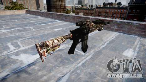 Automatic rifle Colt M4A1 zombies for GTA 4 second screenshot