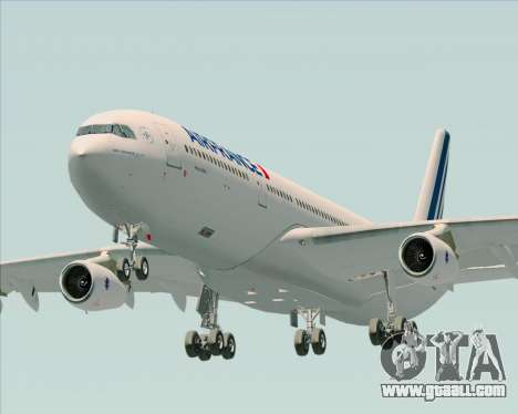 Airbus A340-313 Air France (New Livery) for GTA San Andreas back view