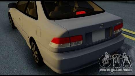 Honda Civic Si 1999 for GTA San Andreas upper view