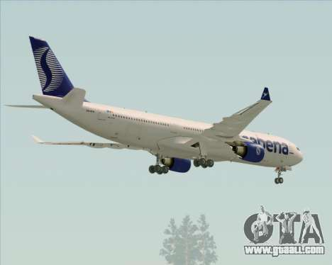 Airbus A330-300 Sabena for GTA San Andreas side view