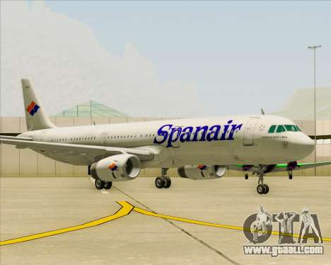 Airbus A321-231 Spanair for GTA San Andreas left view