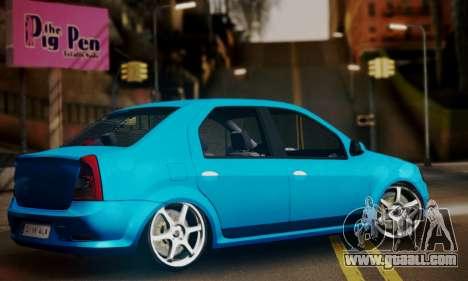 Dacia Logan 1.6 for GTA San Andreas left view