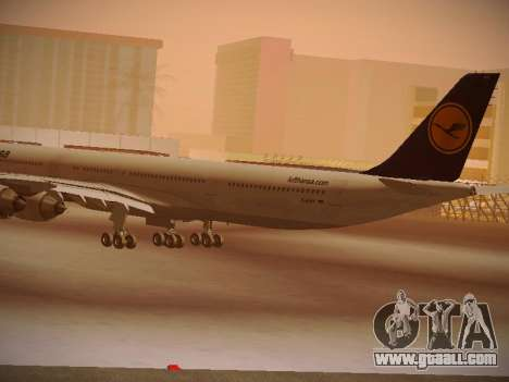 Airbus A340-600 Lufthansa for GTA San Andreas back view