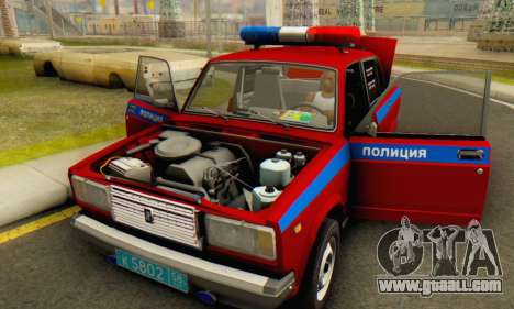 VAZ 2107 Police for GTA San Andreas side view