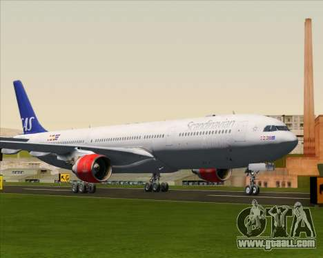 Airbus A330-300 Scandinavian Airlines System. for GTA San Andreas left view