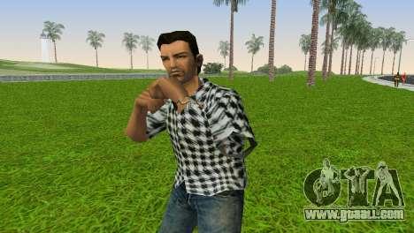Kockas polo - fekete T-Shirt for GTA Vice City second screenshot