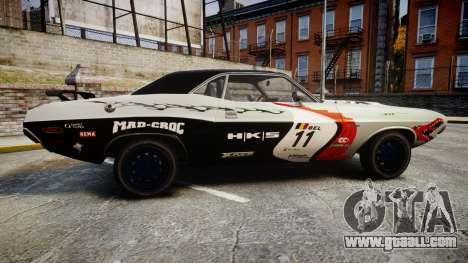 Dodge Challenger 1971 v2.2 PJ5 for GTA 4 left view