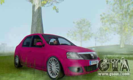 Dacia Logan 2013 for GTA San Andreas right view