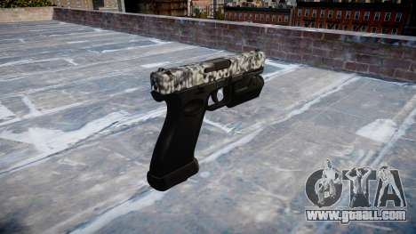 Pistol Glock 20 diamond for GTA 4 second screenshot