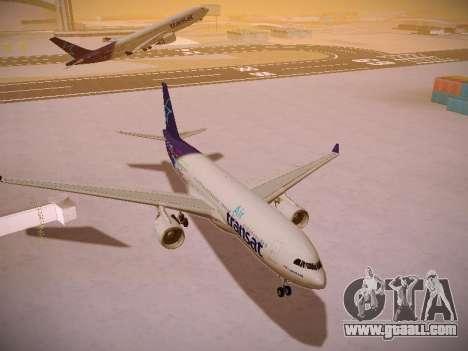 Airbus A330-200 Air Transat for GTA San Andreas back view