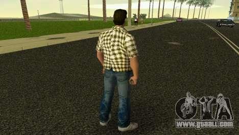 Kockas polo - citrom sarga T-Shirt for GTA Vice City third screenshot