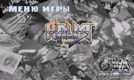 Menu Aria for GTA San Andreas second screenshot