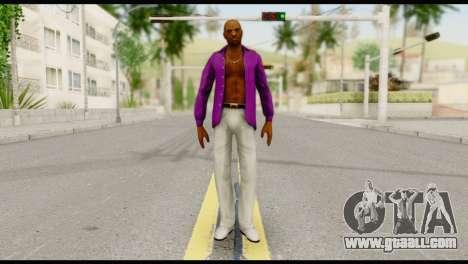 Purple Shirt Vic for GTA San Andreas