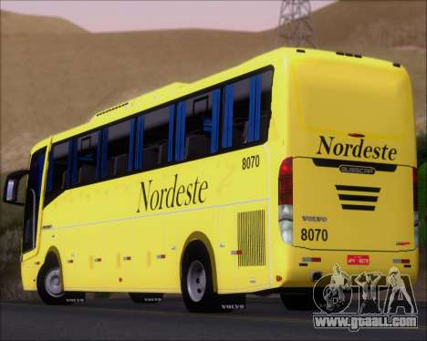 Busscar Elegance 360 Viacao Nordeste 8070 for GTA San Andreas engine
