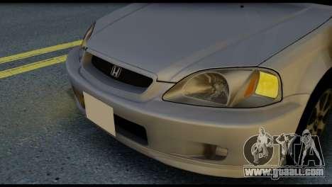 Honda Civic Si 1999 for GTA San Andreas back view