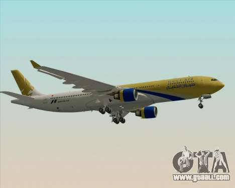 Airbus A330-300 Gulf Air for GTA San Andreas back view