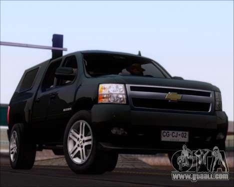 Chevrolet Silverado 2011 for GTA San Andreas interior
