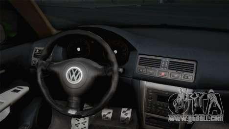 Volkswagen Golf 4 R32 Low v2 for GTA San Andreas back left view