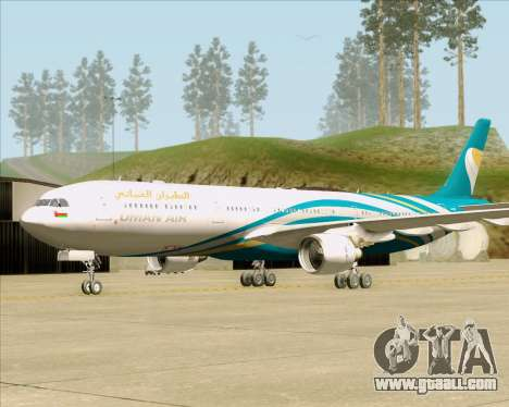 Airbus A330-300 Oman Air for GTA San Andreas back left view