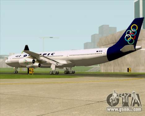 Airbus A340-313 Olympic Airlines for GTA San Andreas right view