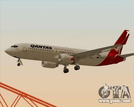 Boeing 737-838 Qantas for GTA San Andreas wheels