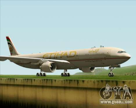 Airbus A330-300 Etihad Airways for GTA San Andreas left view
