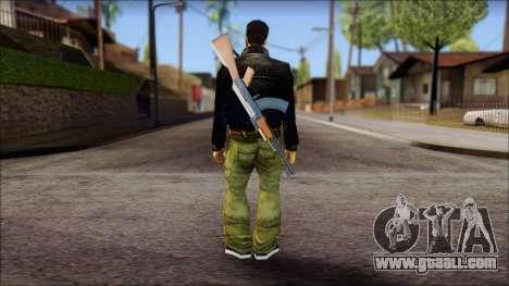 Shades and Gun Claude v2 for GTA San Andreas second screenshot