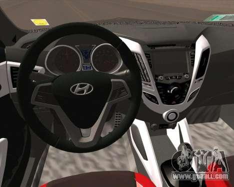 Hyundai Veloster 2013 for GTA San Andreas back view
