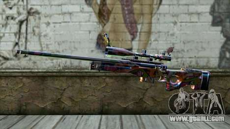 Graffiti Sniper Rifle for GTA San Andreas