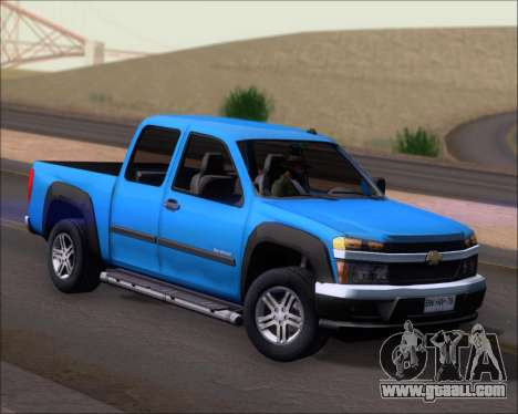 Chevrolet Colorado for GTA San Andreas back left view