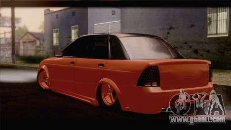 Lada 2170 Priora Orange for GTA San Andreas left view