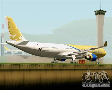 Airbus A330-300 Gulf Air for GTA San Andreas right view