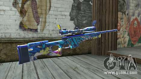 Graffiti Sniper Rifle v2 for GTA San Andreas second screenshot