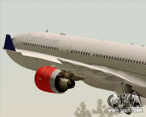 Airbus A330-300 Scandinavian Airlines System. for GTA San Andreas bottom view