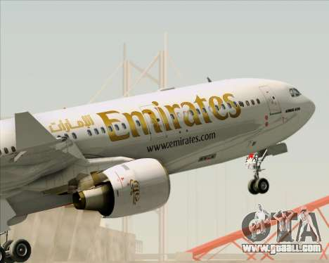 Airbus A330-300 Emirates for GTA San Andreas wheels