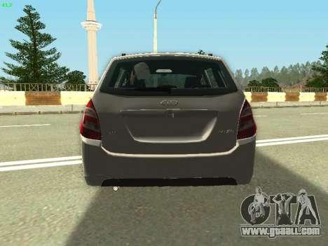Lada Kalina 2 Wagon for GTA San Andreas inner view