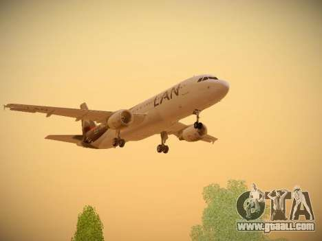 Airbus A320-214 LAN Airlines for GTA San Andreas upper view