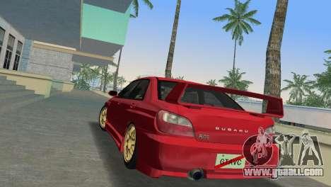 Subaru Impreza WRX 2002 Type 6 for GTA Vice City back left view