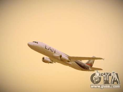 Airbus A320-214 LAN Airlines for GTA San Andreas side view