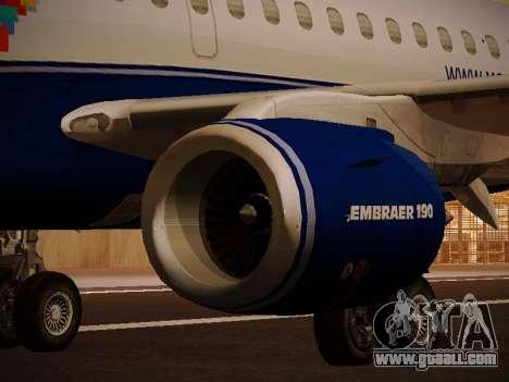 Embraer E190 Azul Brazilian Airlines for GTA San Andreas engine